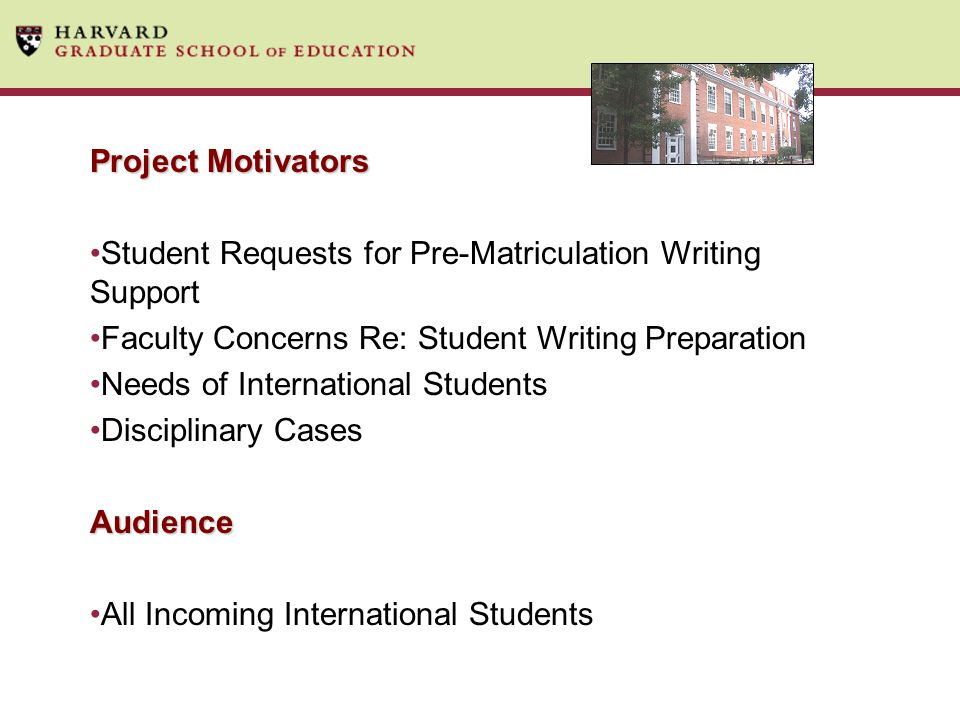 Student Requests for Pre-Matriculation Writing Support