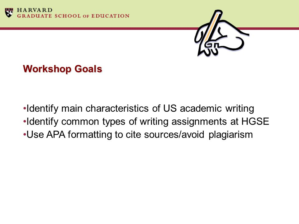 Identify main characteristics of US academic writing