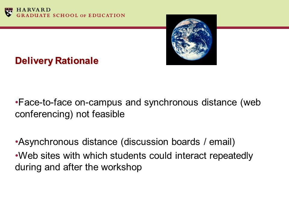 Asynchronous distance (discussion boards /  )