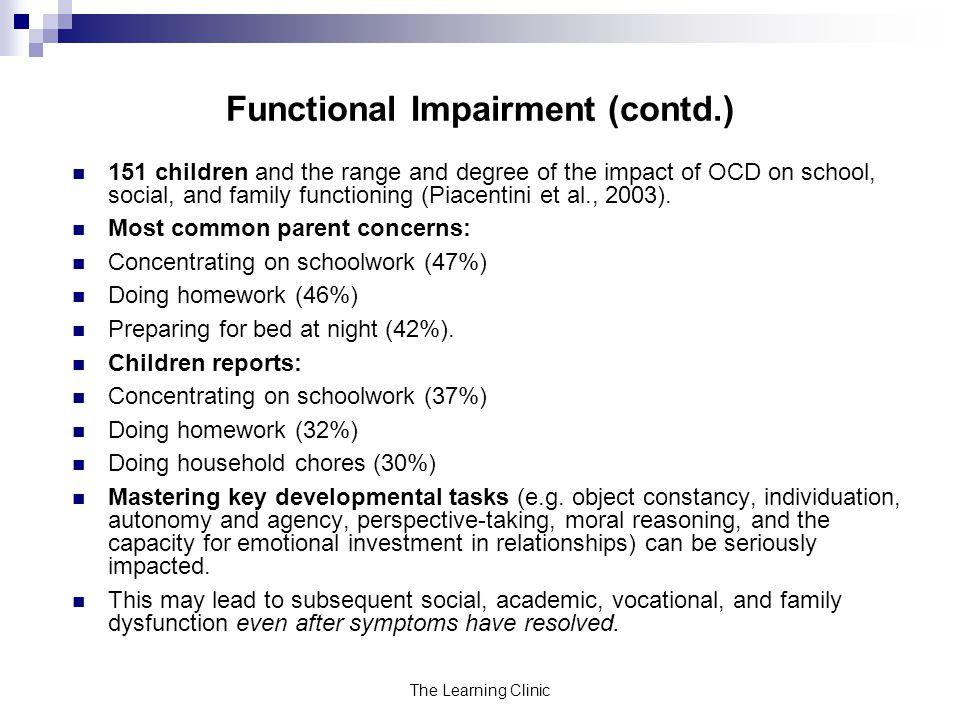 Functional Impairment (contd.)
