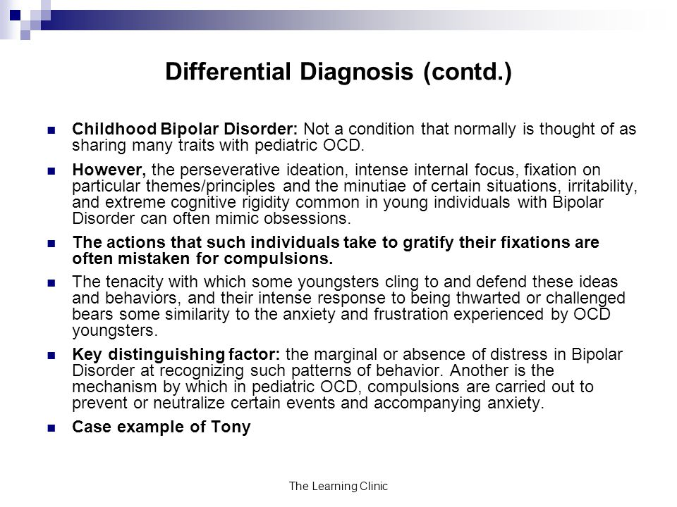Differential Diagnosis (contd.)