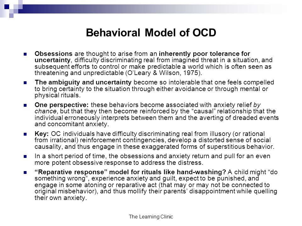 Behavioral Model of OCD