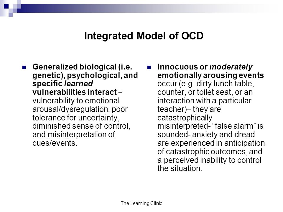 Integrated Model of OCD
