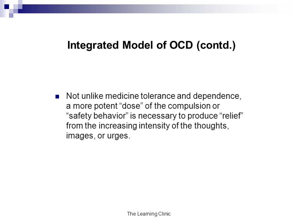 Integrated Model of OCD (contd.)