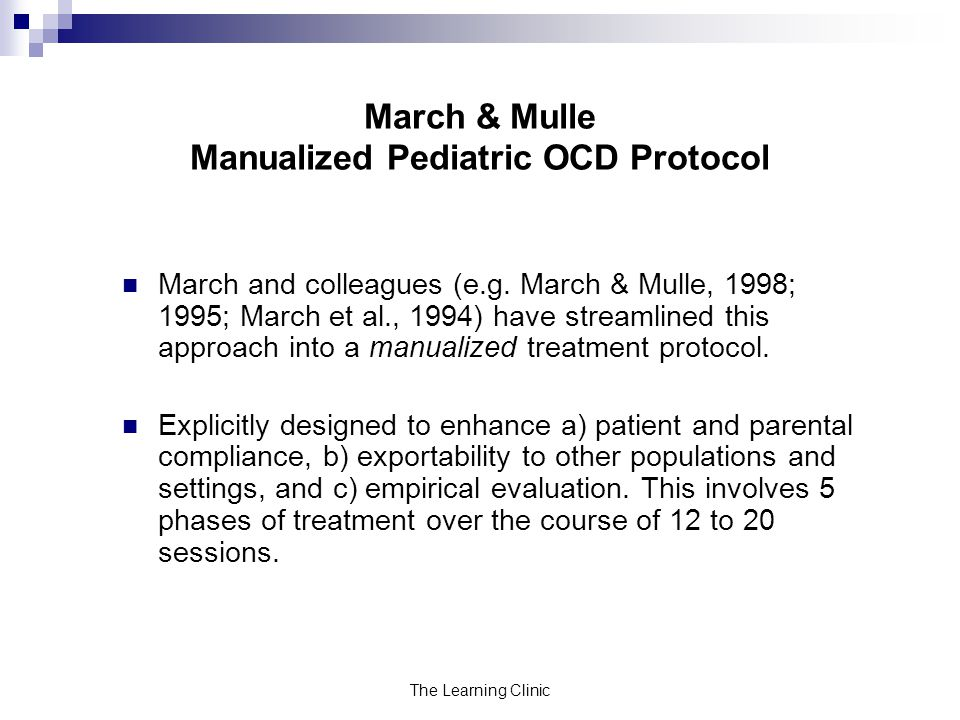 March & Mulle Manualized Pediatric OCD Protocol