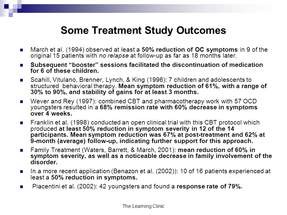 Some Treatment Study Outcomes