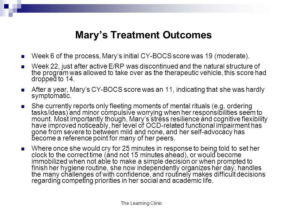 Mary's Treatment Outcomes