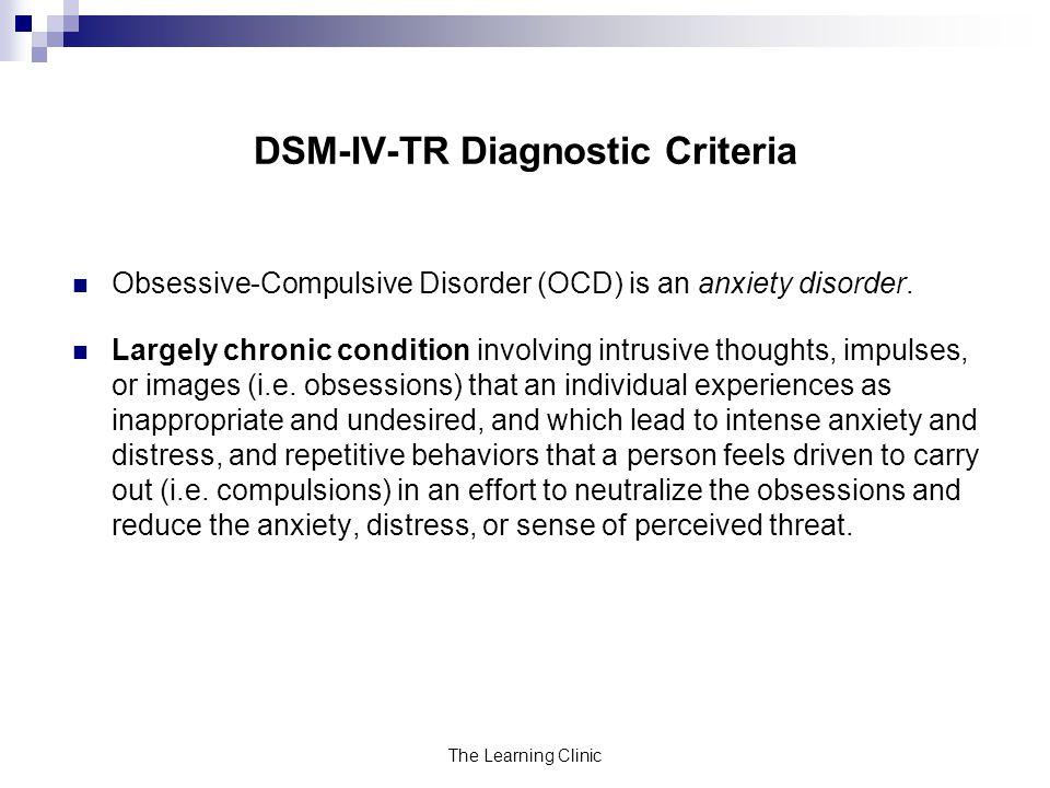 DSM-IV-TR Diagnostic Criteria