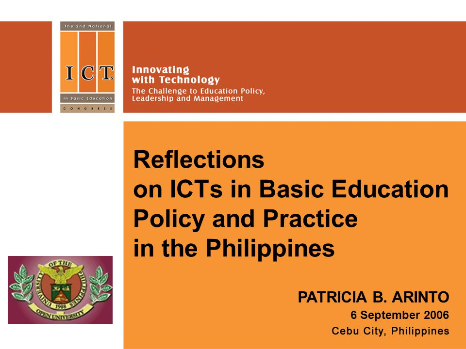 Reflections on ICTs in Basic Education Policy and Practice in the Philippines