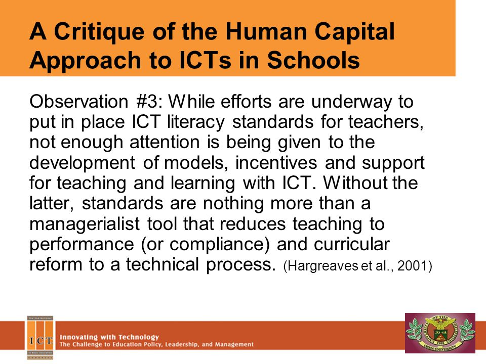 A Critique of the Human Capital Approach to ICTs in Schools