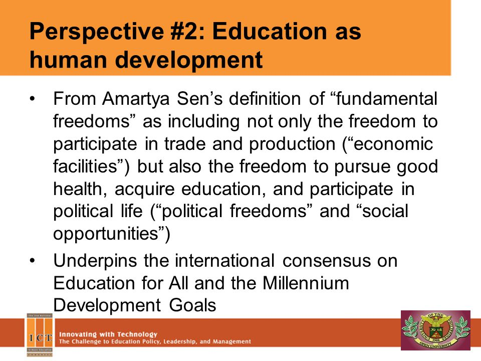 Perspective #2: Education as human development
