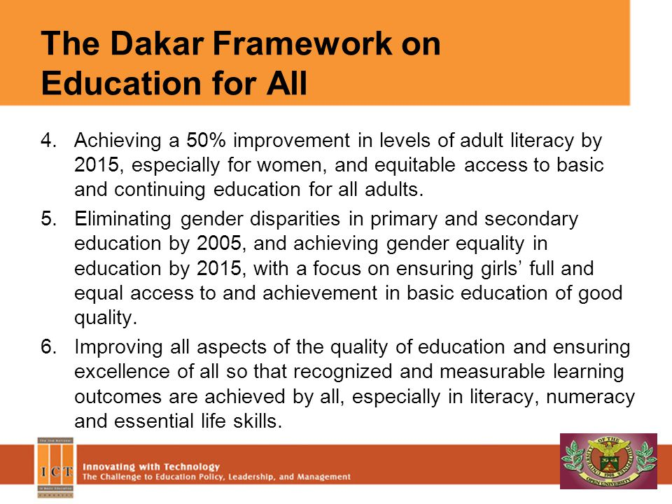 The Dakar Framework on Education for All
