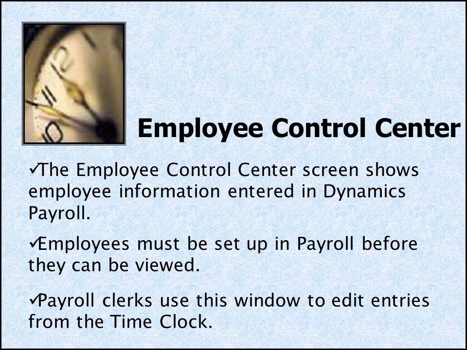 Employee Control Center