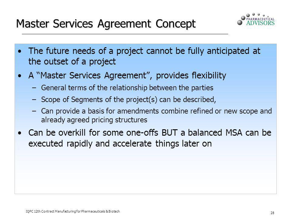 Master Services Agreement Concept