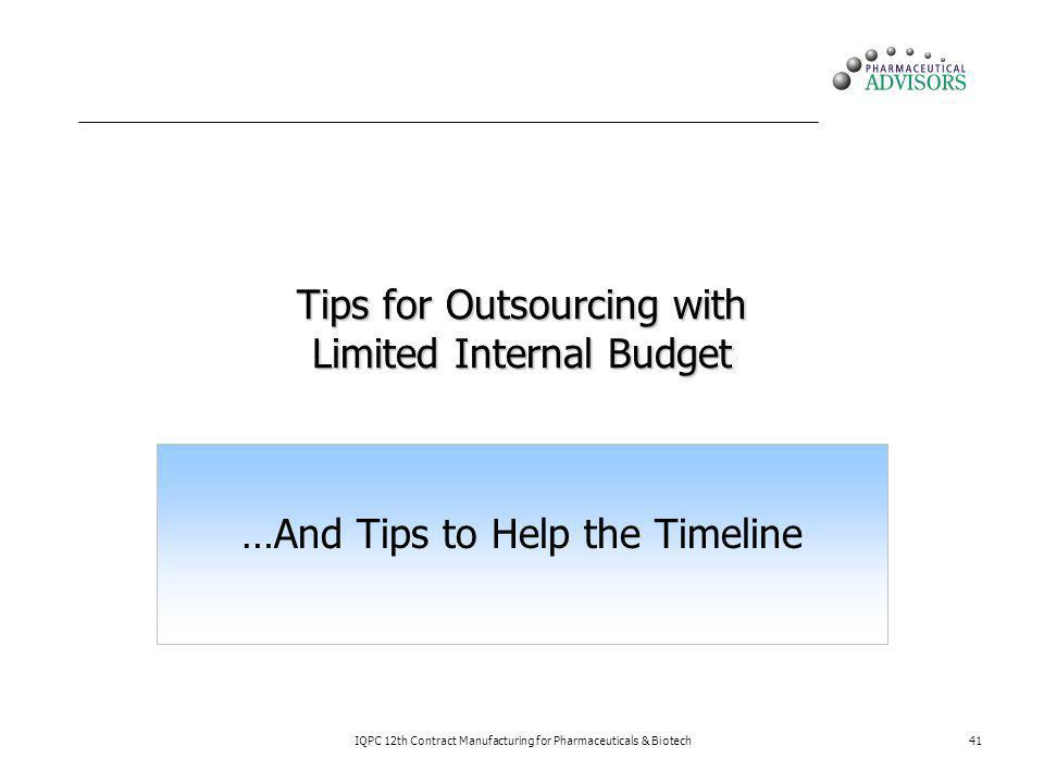 Tips for Outsourcing with Limited Internal Budget