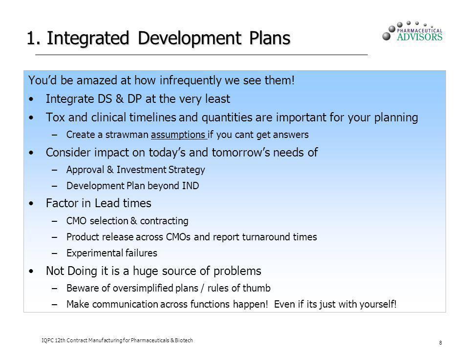 1. Integrated Development Plans
