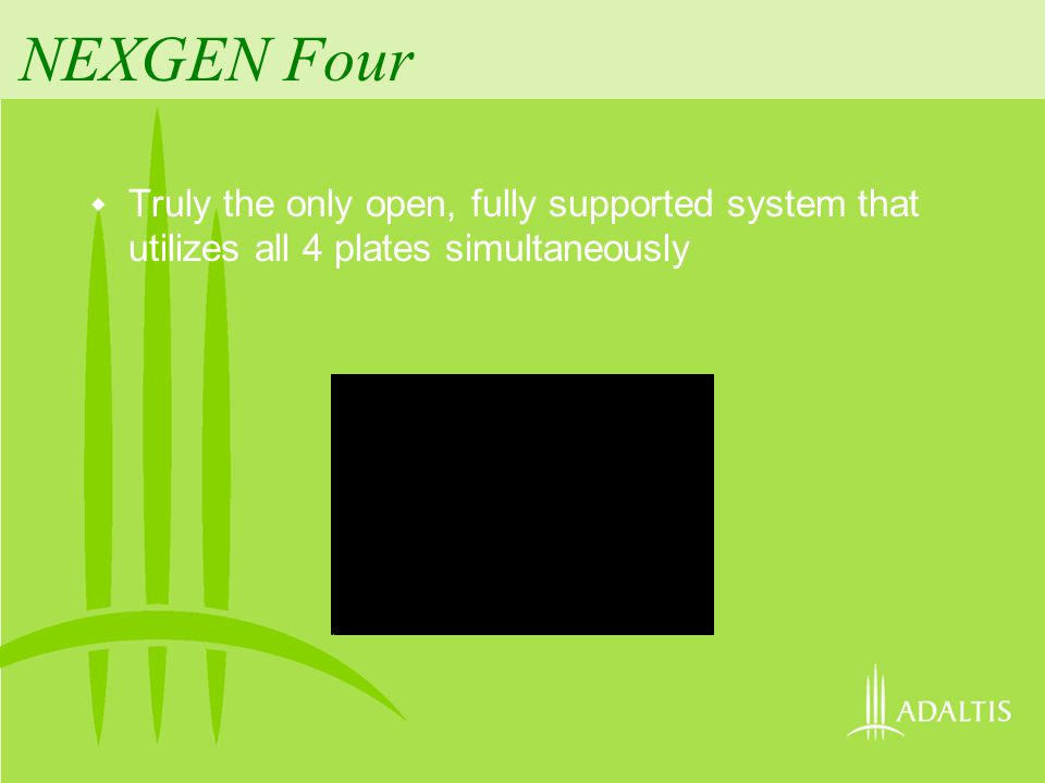 NEXGEN Four Truly the only open, fully supported system that utilizes all 4 plates simultaneously