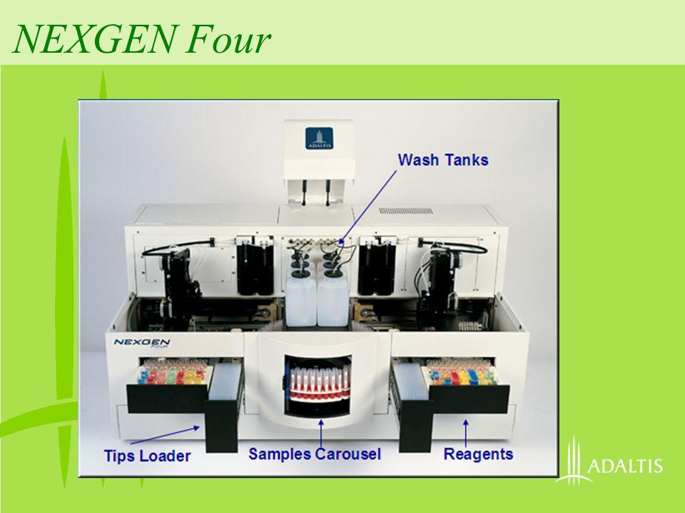NEXGEN Four Tips Loader Samples Carousel Reagents