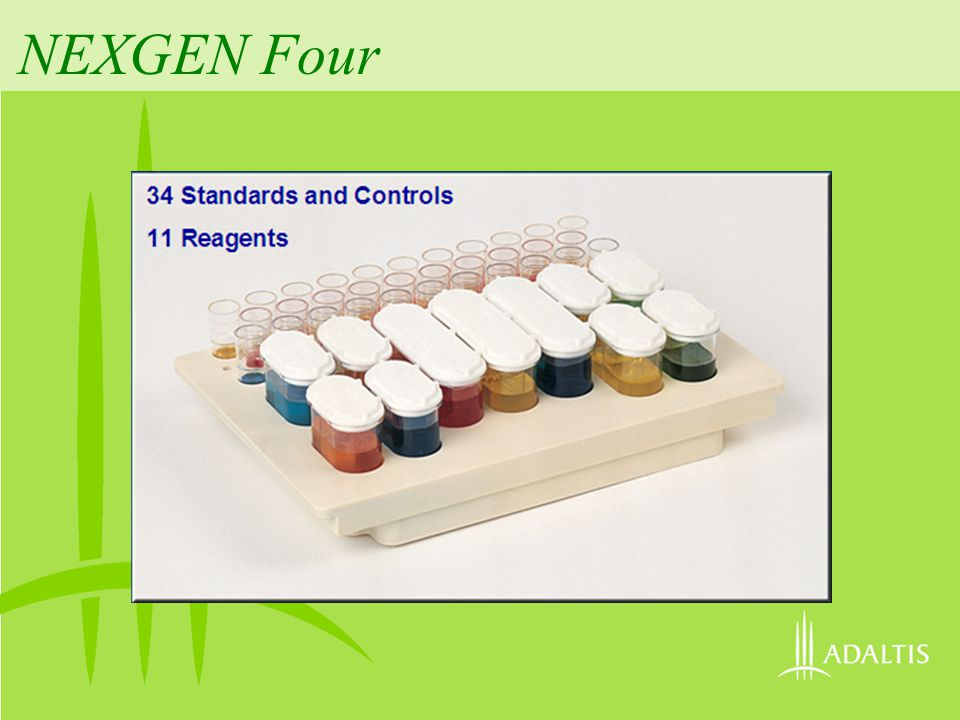 NEXGEN Four 34 Standards and Controls 11 Reagents