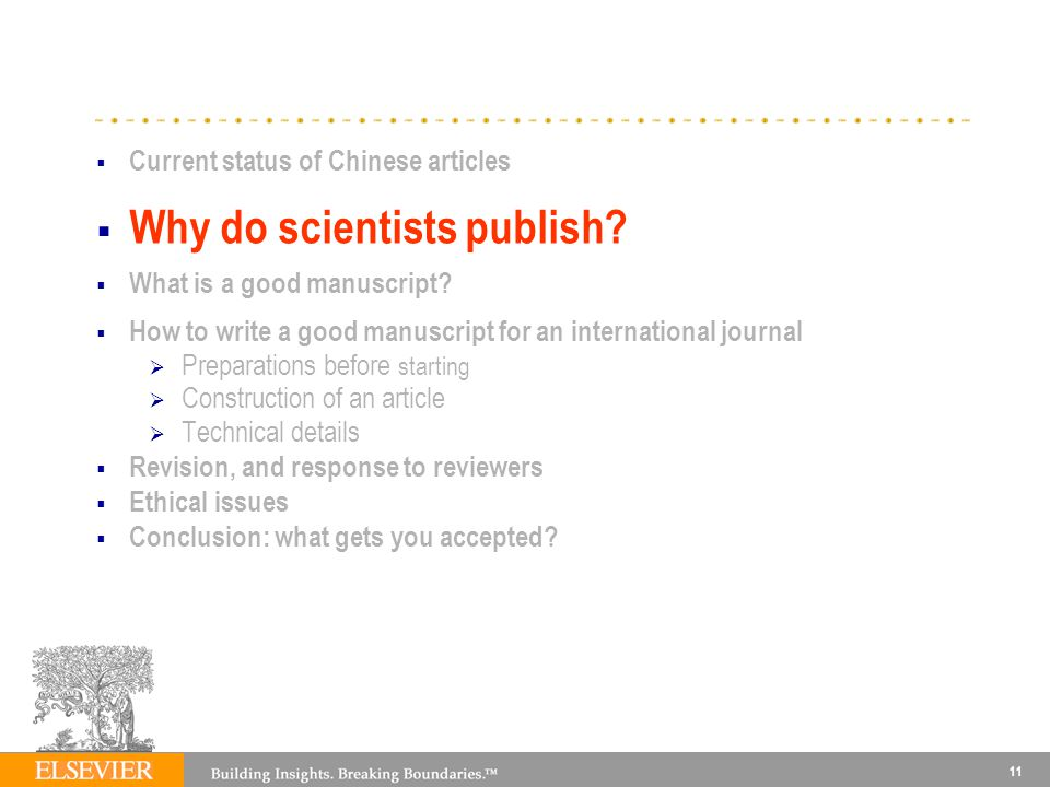 Why do scientists publish