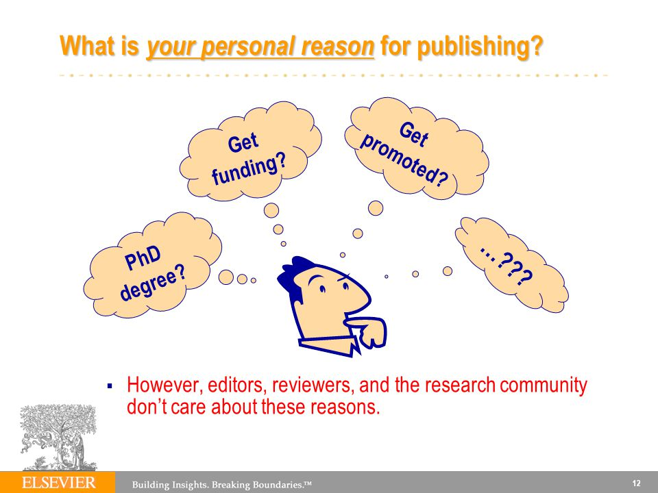 What is your personal reason for publishing