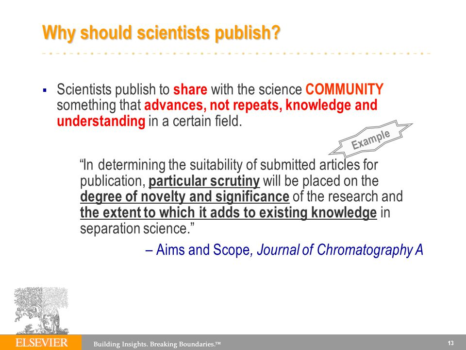 Why should scientists publish