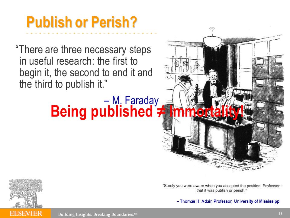 Being published ≠ Immortality!