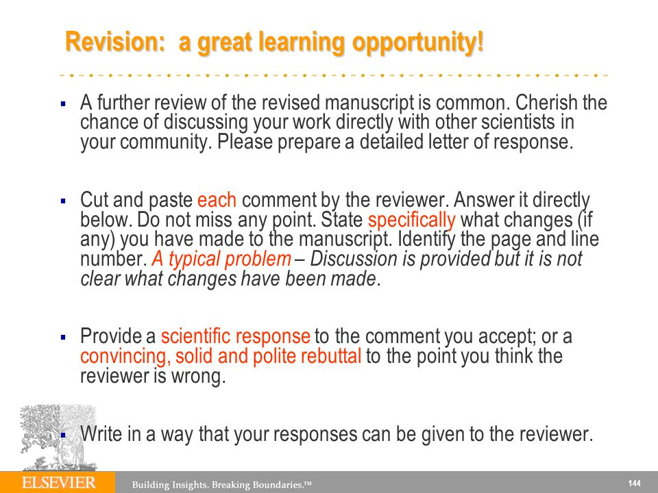 Revision: a great learning opportunity!