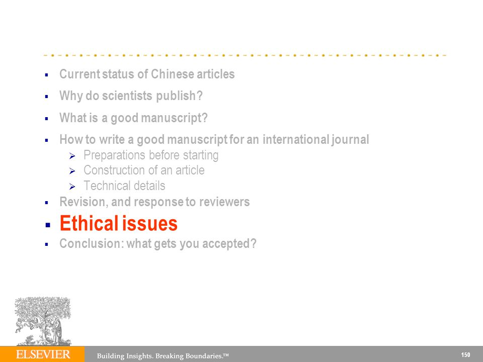 Ethical issues Current status of Chinese articles