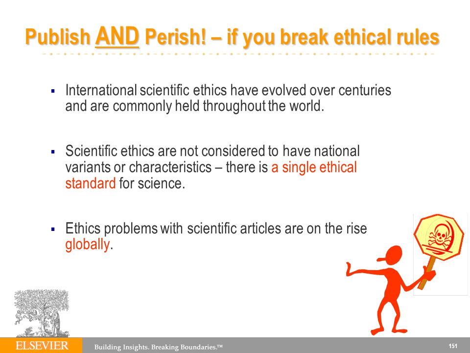 Publish AND Perish! – if you break ethical rules