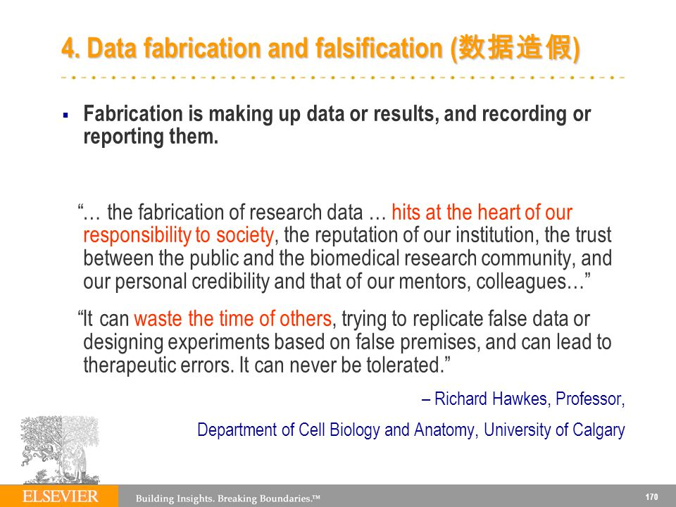 4. Data fabrication and falsification (数据造假)