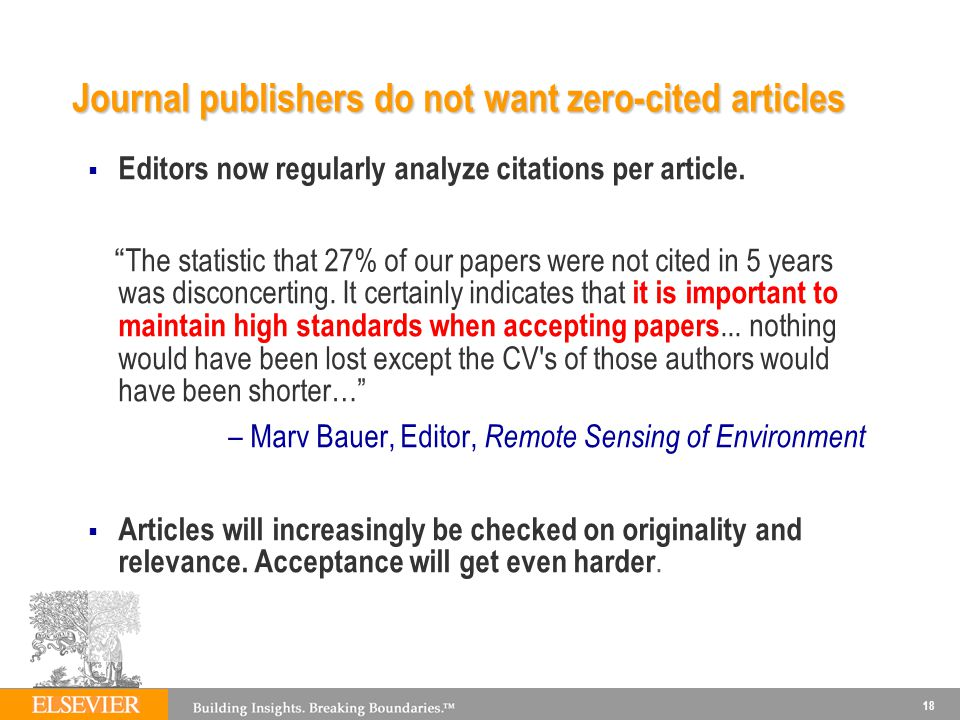 Journal publishers do not want zero-cited articles