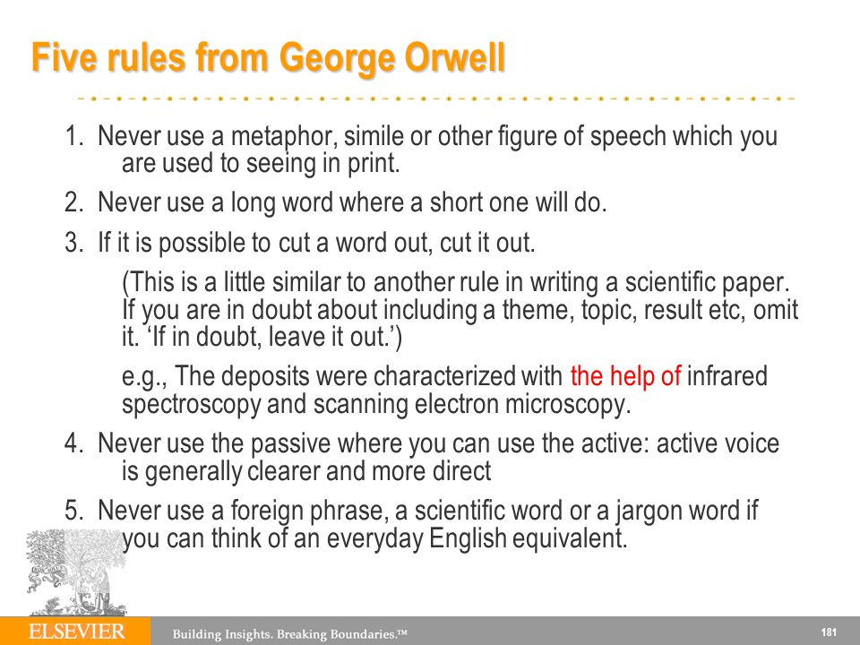 Five rules from George Orwell