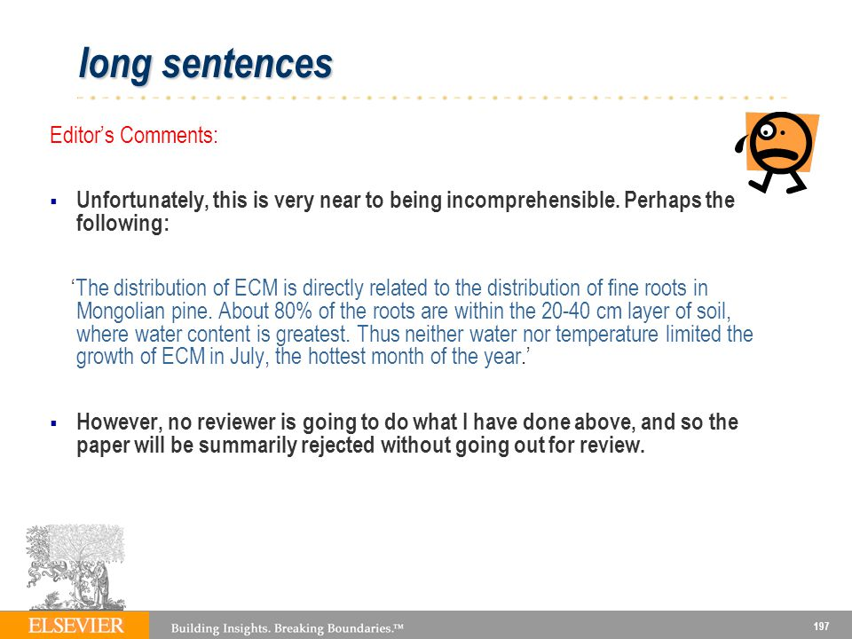 long sentences Editor's Comments:
