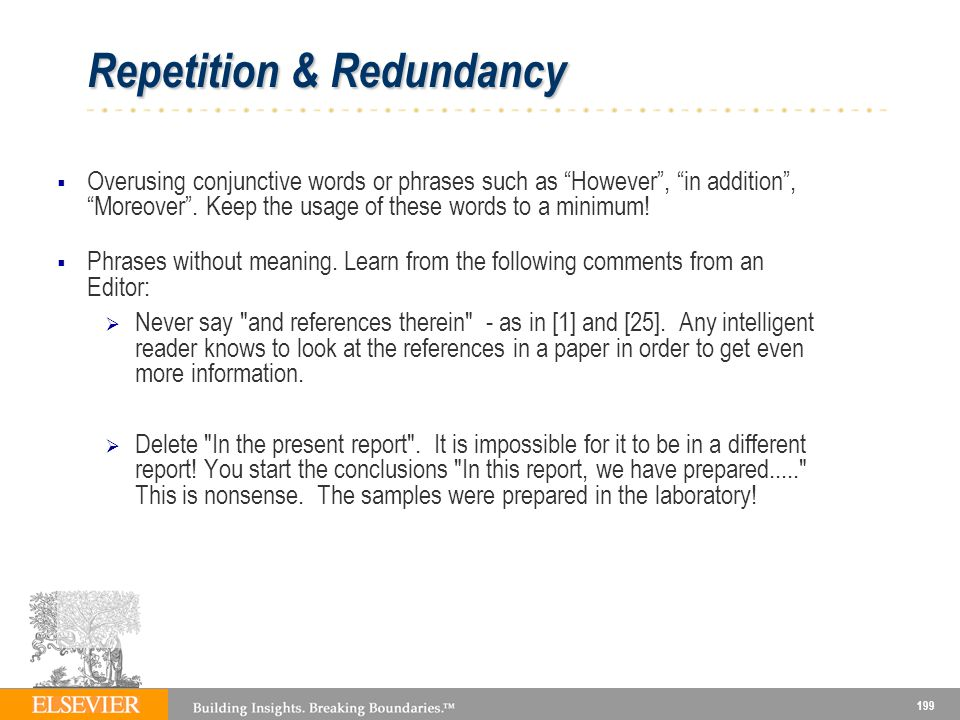 Repetition & Redundancy