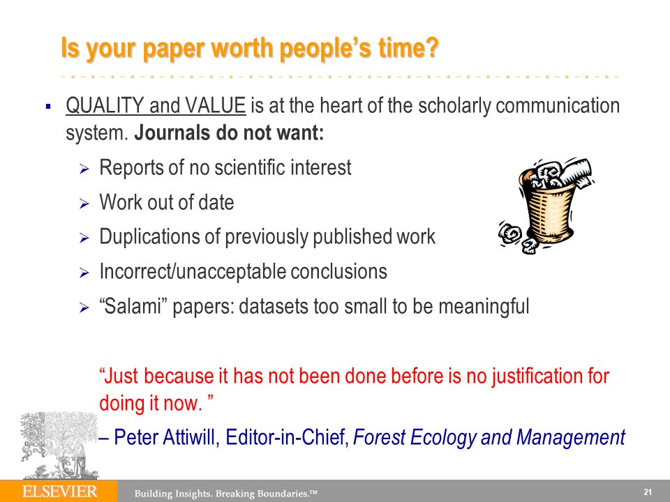 Is your paper worth people's time