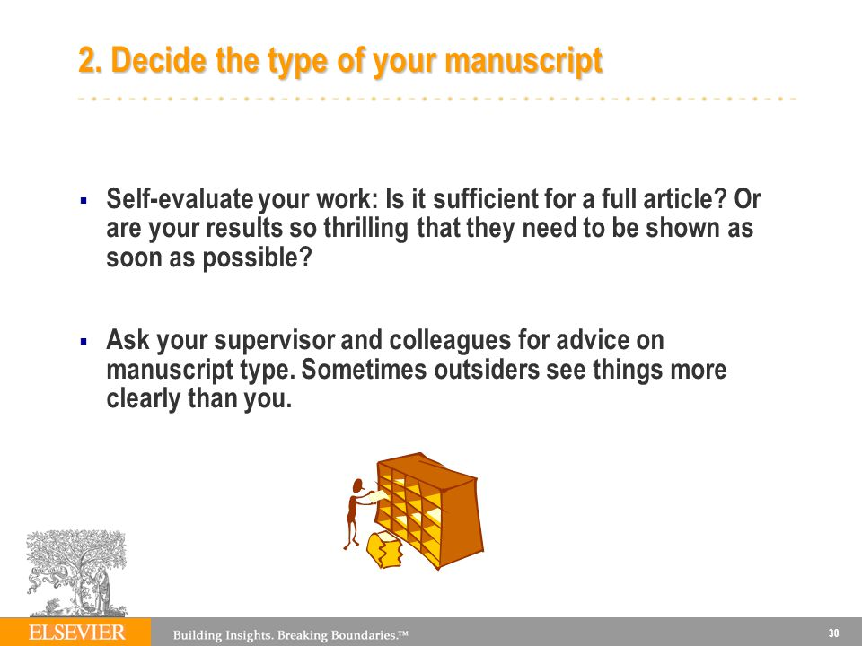 2. Decide the type of your manuscript