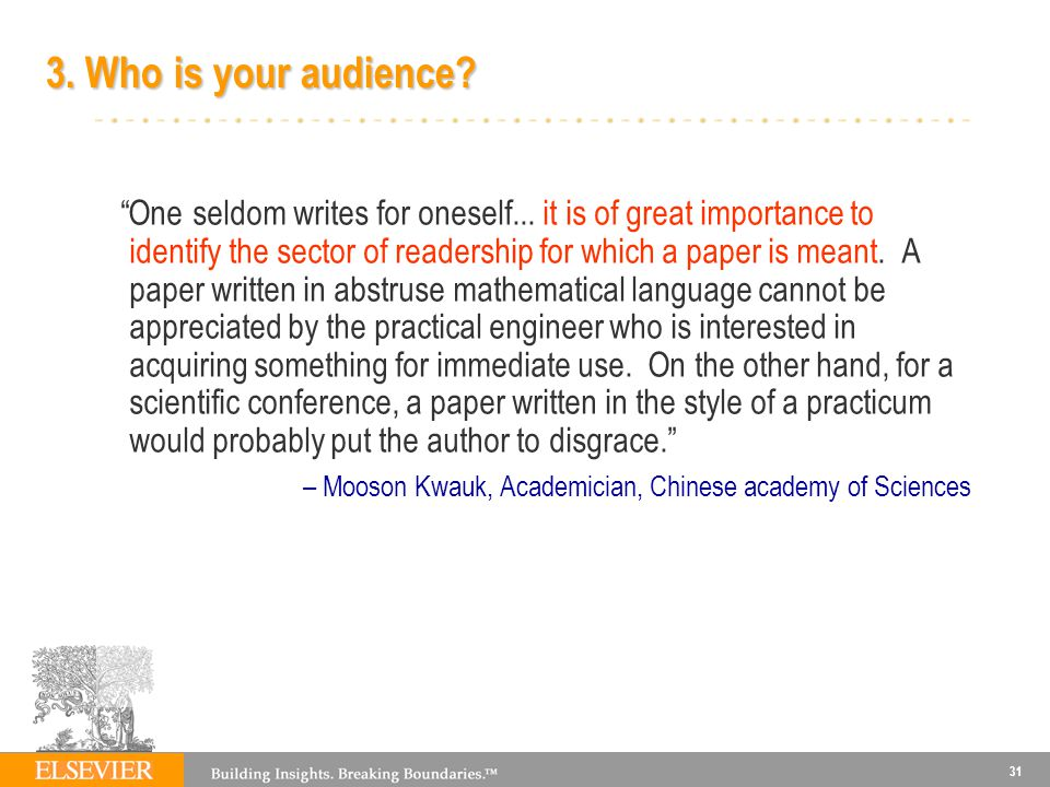 3. Who is your audience