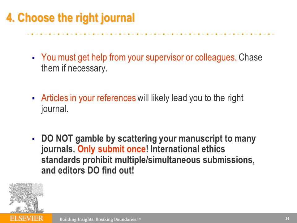 4. Choose the right journal