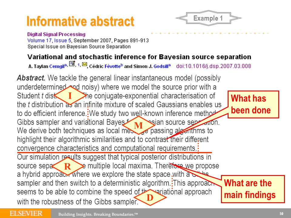 Example 1 Informative abstract.