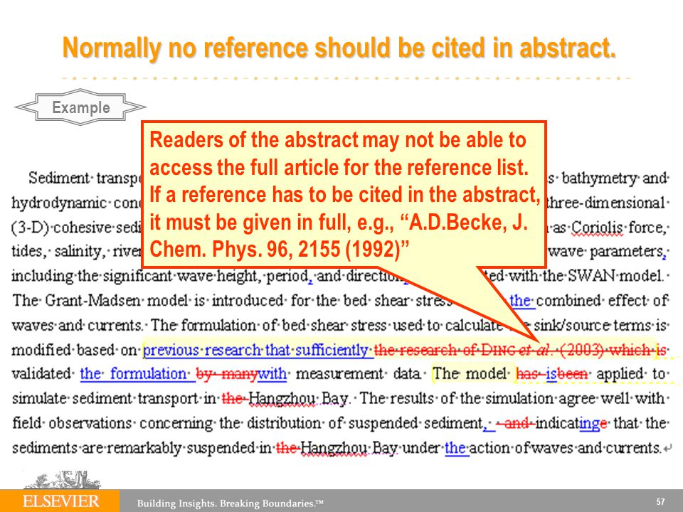 Normally no reference should be cited in abstract.
