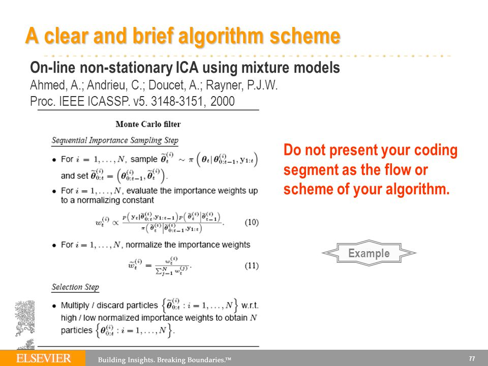 A clear and brief algorithm scheme