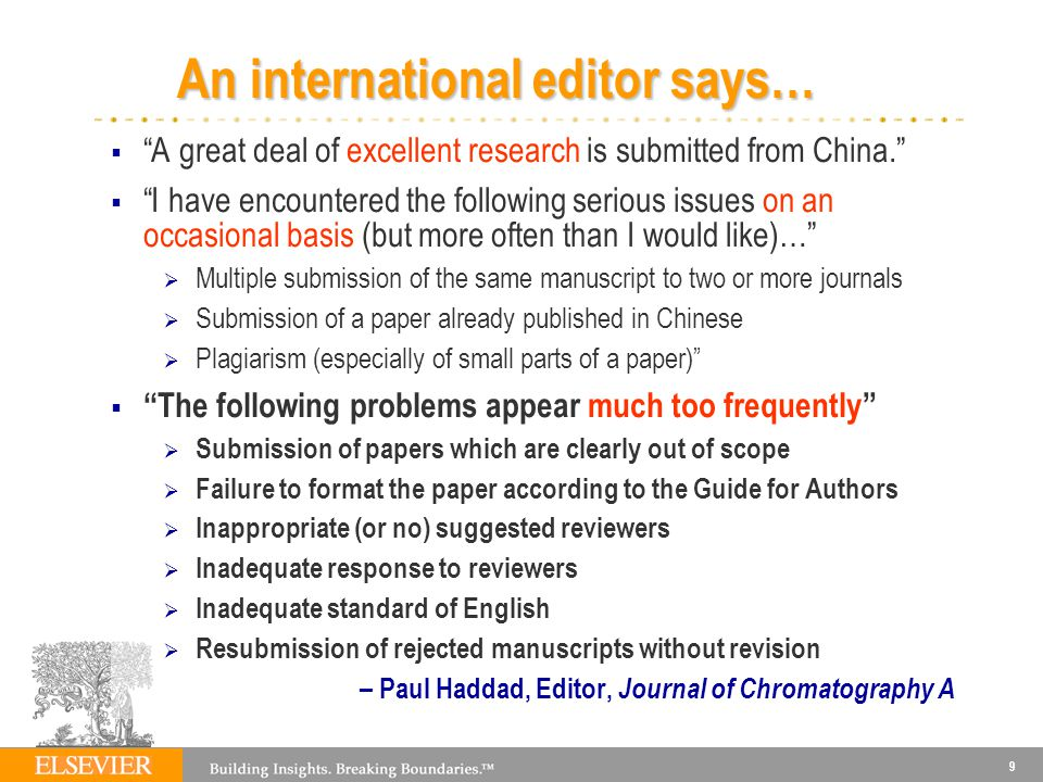 An international editor says…