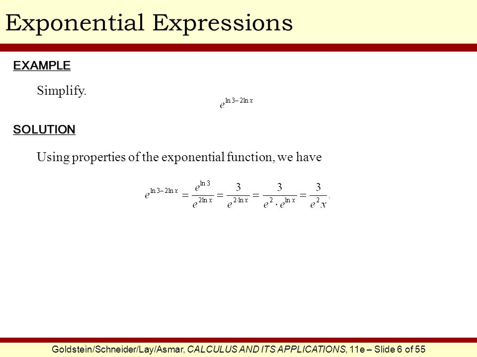 Exponential Expressions