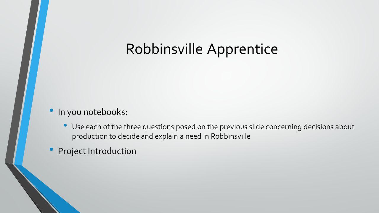 Robbinsville Apprentice