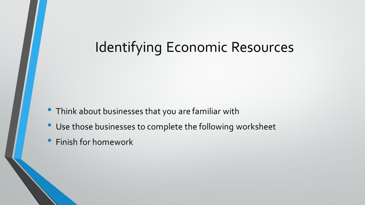 Identifying Economic Resources