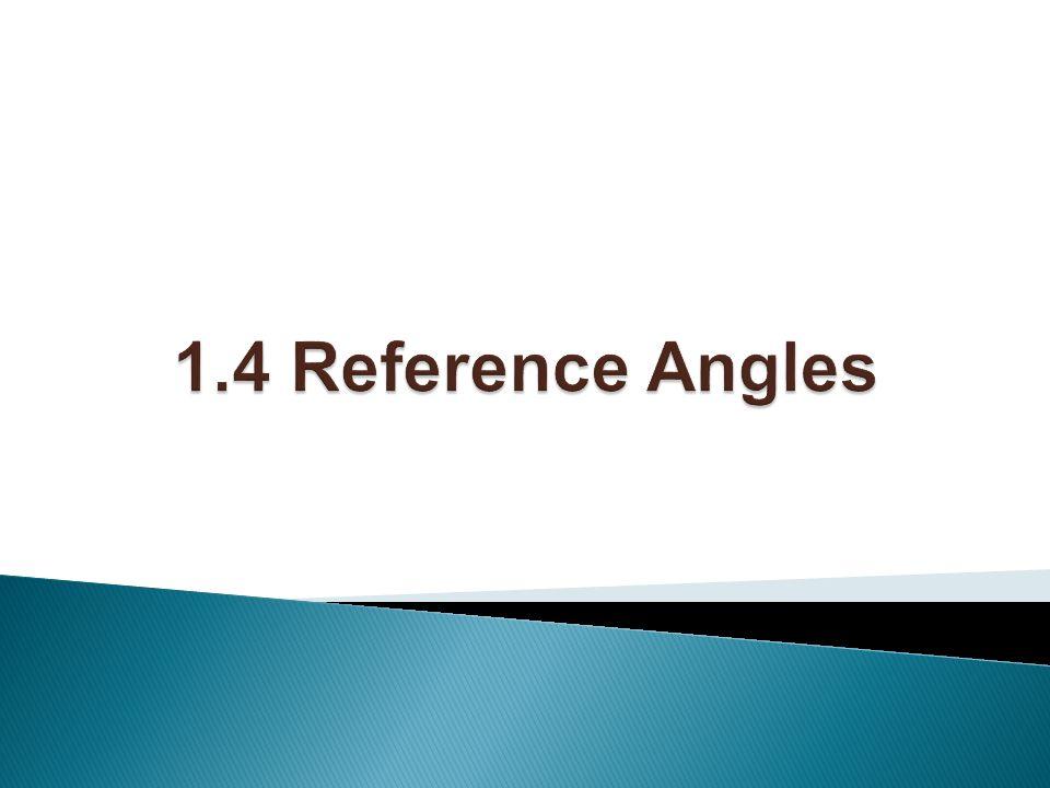 1.4 Reference Angles