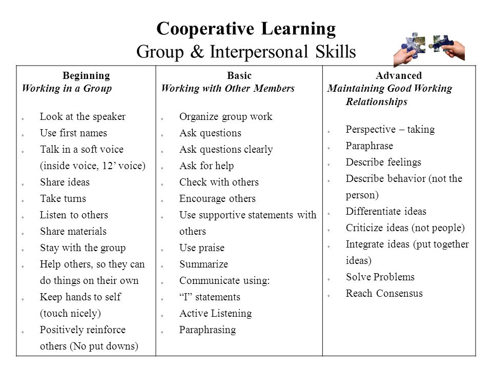 Cooperative Learning Group & Interpersonal Skills