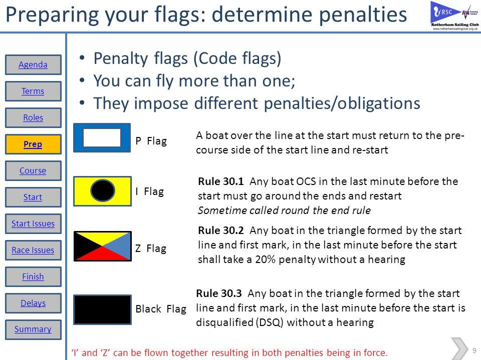 Preparing your flags: determine penalties