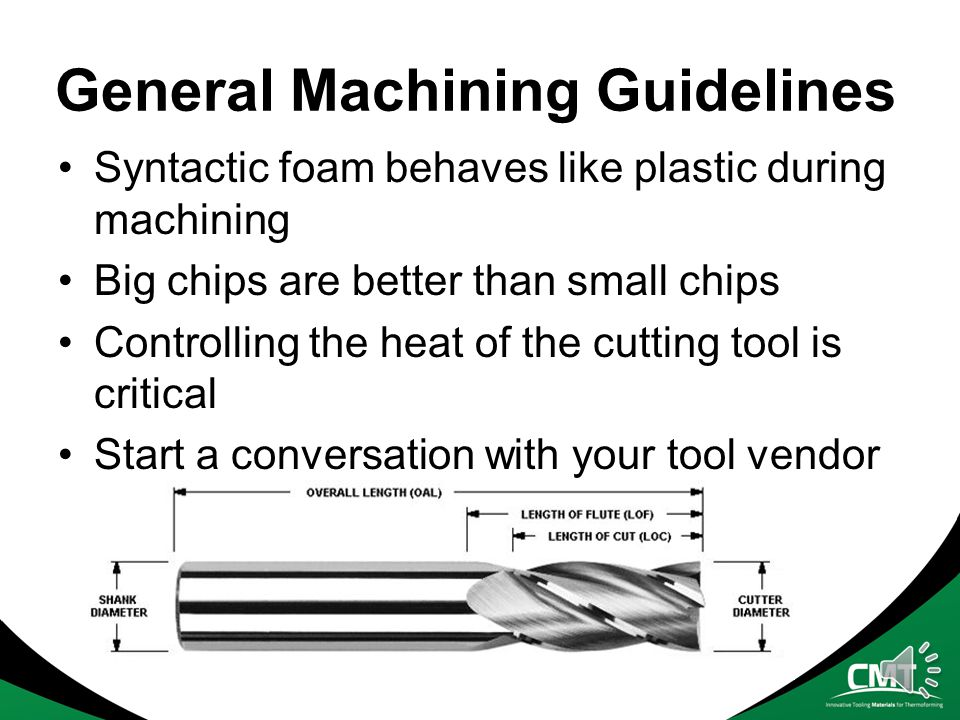 General Machining Guidelines